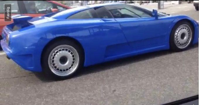 Bugatti EB 110 spottet i Danmark