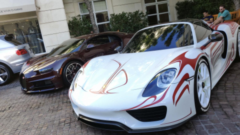 Combo Bugatti Chiron vs Porsche 918 Spyder