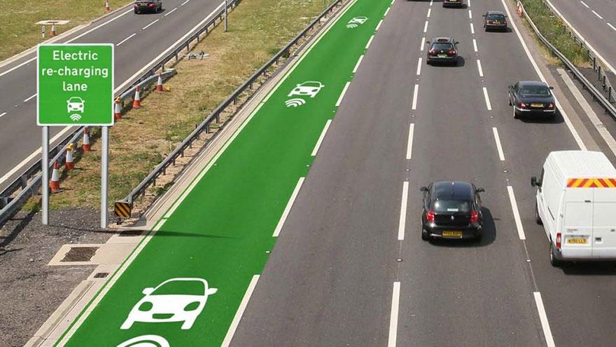 Elbiler trådløs opladning i vejene