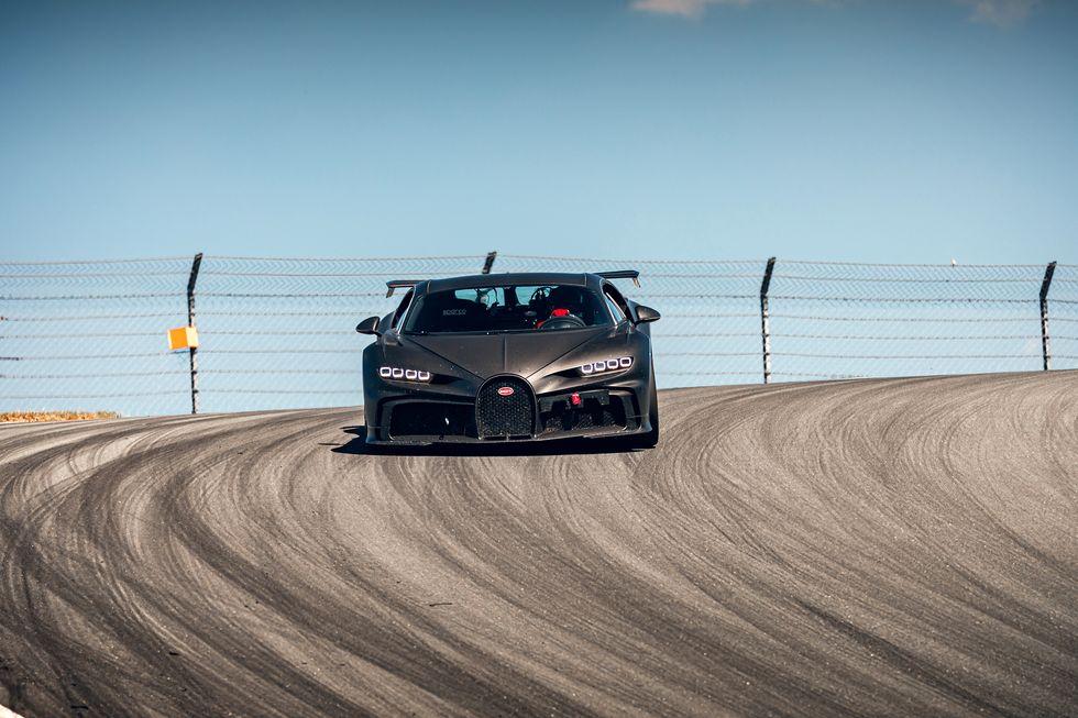 Bugatti Chiron Pur Sport testing on track
